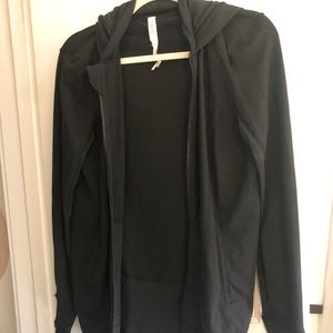 Lululemon long jacket w thumbholes workout top
